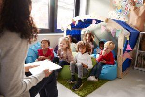 Storytime with preschool children