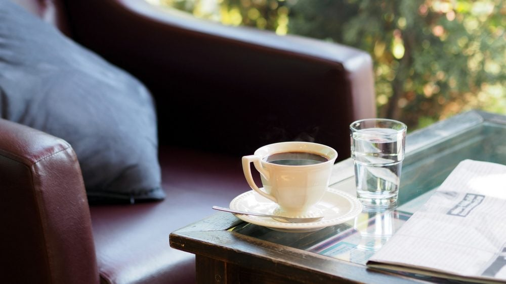 Coffee and chair