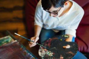 Artist Painting Closeup