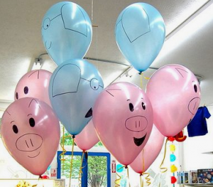 elephant and piggie balloons