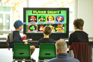 Kids Playing Mario Kart